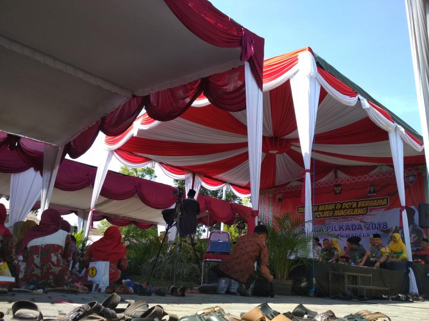 Image : Perwakilan Tokoh Masyarakat Desa Pucungrejo Mengikuti Pengajian Tabliq Akbar Oleh POLRES MAGELANG